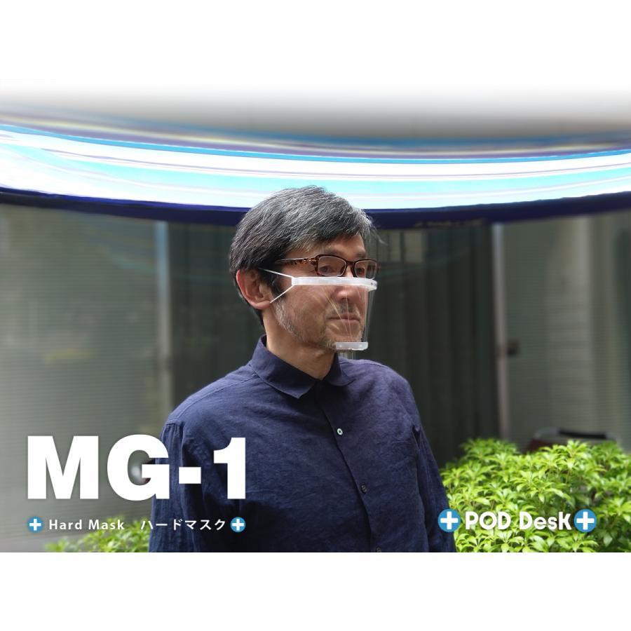 フィルム式マスク 「ハードマスク MG-1」(シールドフィルム3セット入) マウスシールド(上方向にもシールド)|crosspod|04