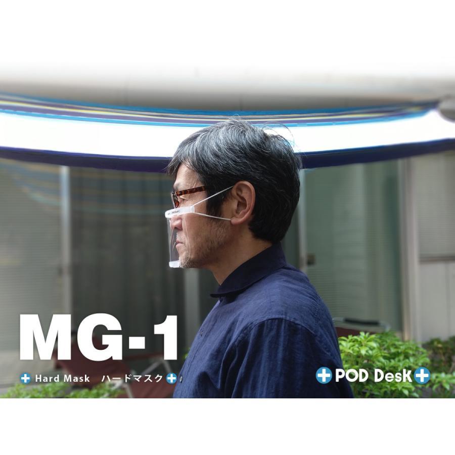 フィルム式マスク 「ハードマスク MG-1」(シールドフィルム3セット入) マウスシールド(上方向にもシールド)|crosspod|05