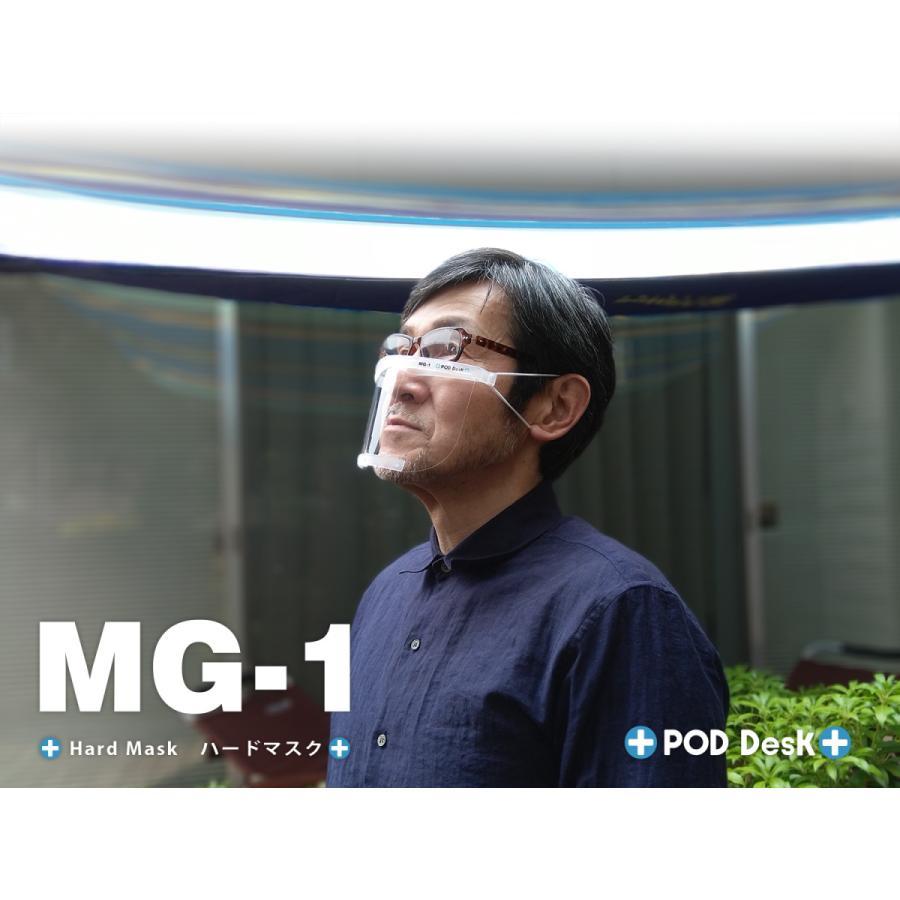 フィルム式マスク 「ハードマスク MG-1」(シールドフィルム3セット入) マウスシールド(上方向にもシールド)|crosspod|06