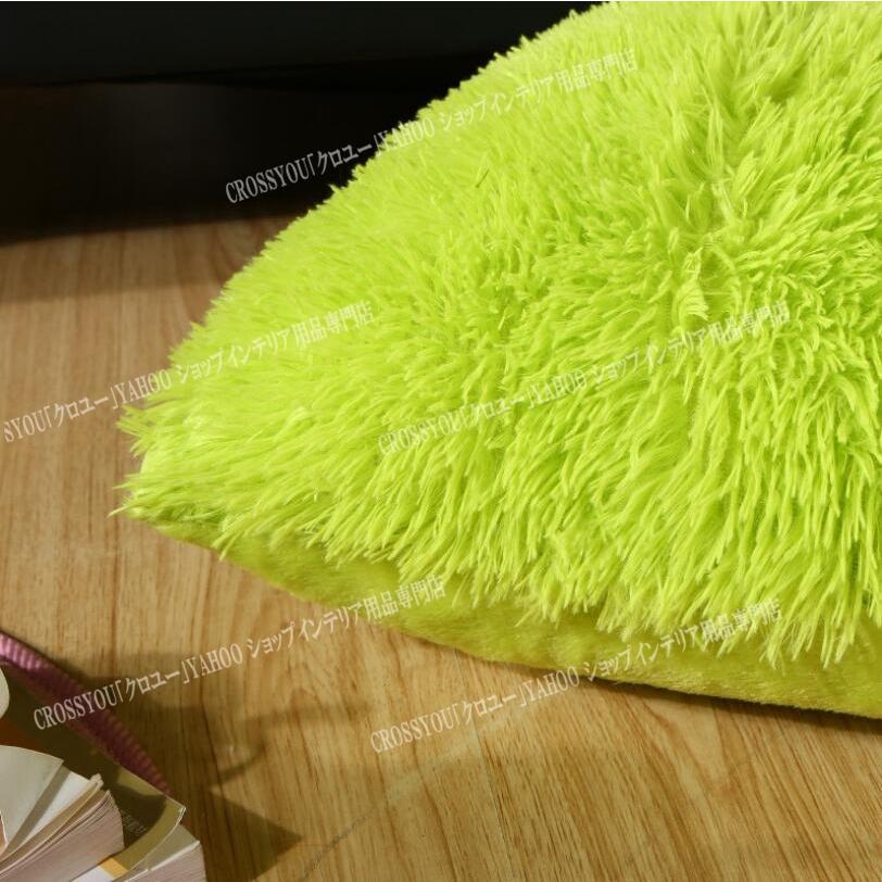 クッションカバー フリース生地 抱き枕カバー 43*43cm ファスナー付き 柔らかい あったか ふわふわ シンプル 北欧風 装飾枕 カバー|crossyou2019|07