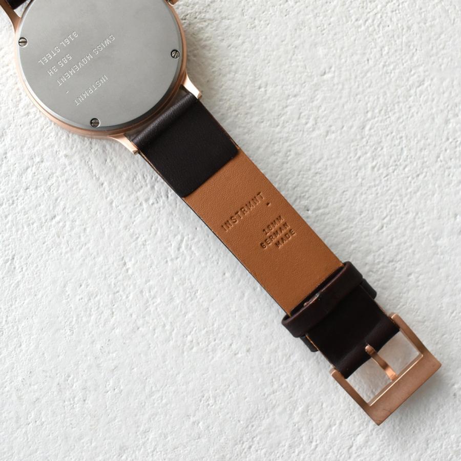 インストゥルメント INSTRMNT レザーストラップ リストウォッチ アナログ腕時計 レディース メンズ   腕時計 2980 送料無料|crouka|11
