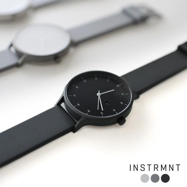 インストゥルメント INSTRMNT レザー・ラバー・ストラップ リストウォッチ アナログ腕時計   3280 送料無料|crouka