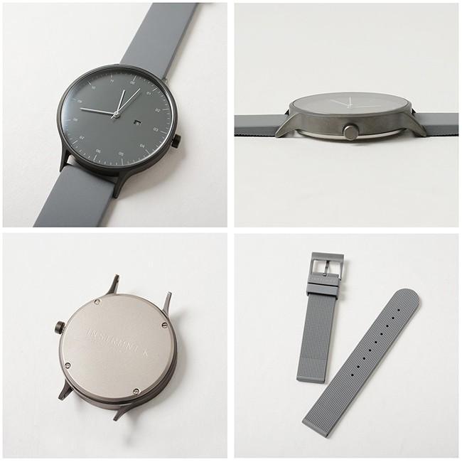 インストゥルメント INSTRMNT レザー・ラバー・ストラップ リストウォッチ アナログ腕時計   3280 送料無料|crouka|09