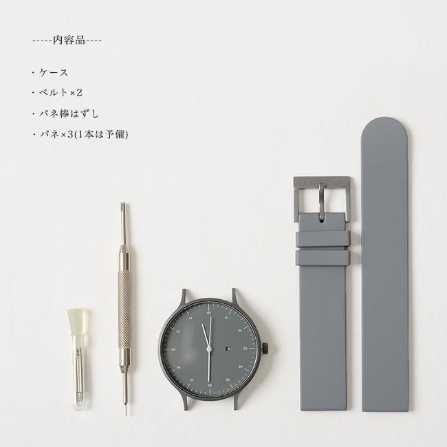インストゥルメント INSTRMNT レザー・ラバー・ストラップ リストウォッチ アナログ腕時計   3280 送料無料|crouka|10