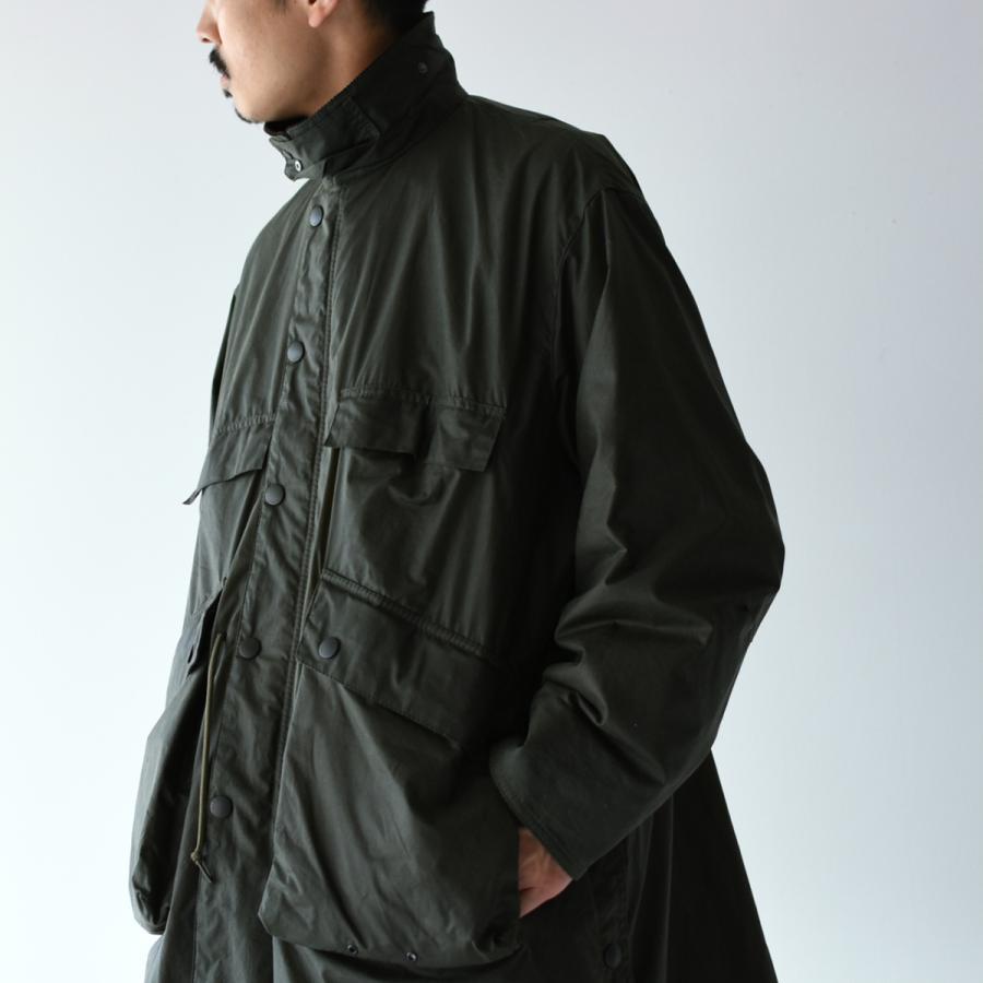 キャプテンサンシャイン×バブアー スタンドカラー トラベラー コート ミリタリー コート KS20FBB01 送料無料|crouka|02