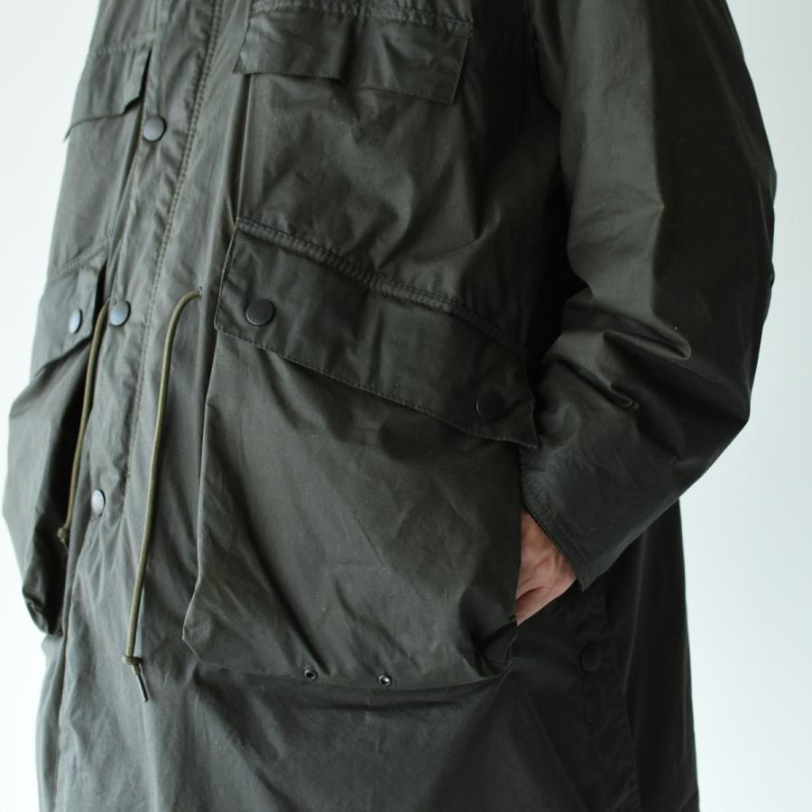 キャプテンサンシャイン×バブアー スタンドカラー トラベラー コート ミリタリー コート KS20FBB01 送料無料|crouka|11