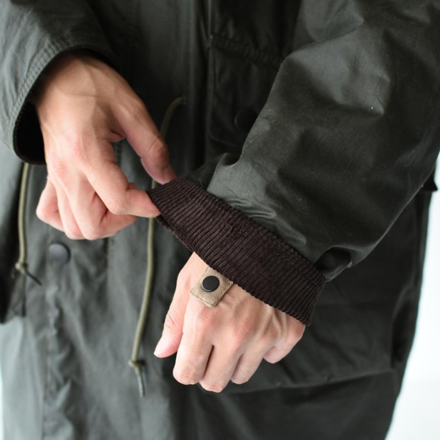 キャプテンサンシャイン×バブアー スタンドカラー トラベラー コート ミリタリー コート KS20FBB01 送料無料|crouka|14