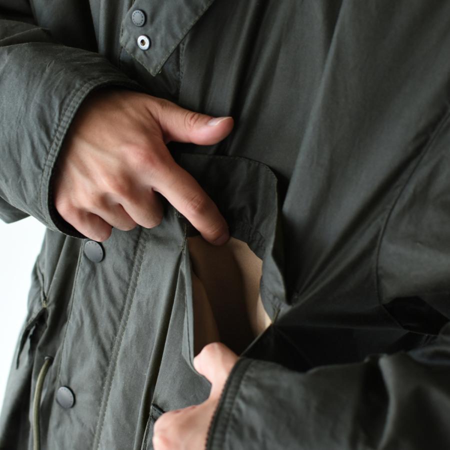 キャプテンサンシャイン×バブアー スタンドカラー トラベラー コート ミリタリー コート KS20FBB01 送料無料|crouka|10