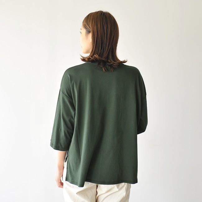 プリット prit ハイゲージ スムース 7分袖 クルーネック ワイド ポケット付き カットソー Tシャツ ・91960 crouka 12