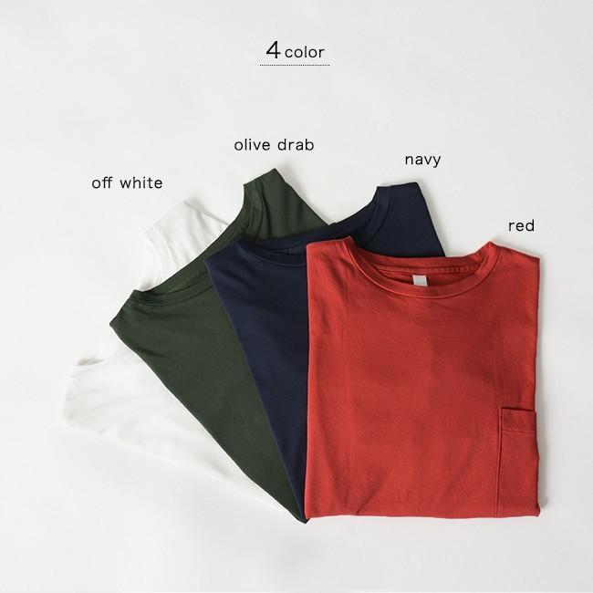 プリット prit ハイゲージ スムース 7分袖 クルーネック ワイド ポケット付き カットソー Tシャツ ・91960 crouka 03