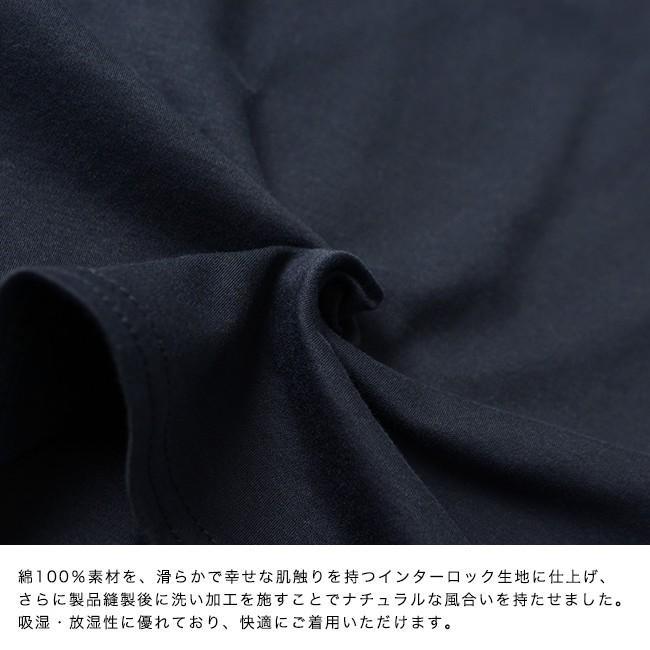 プリット prit ハイゲージ スムース 7分袖 クルーネック ワイド ポケット付き カットソー Tシャツ ・91960 crouka 09