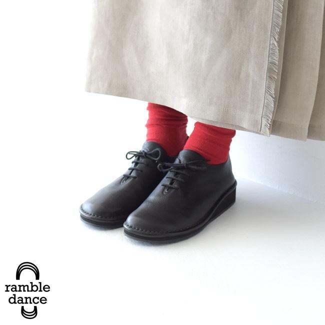 ランブル ダンス ramble dance オイルシュリンクレザー レースアップ シューズ ・373-53356[クーポン対象外] 送料無料 crouka