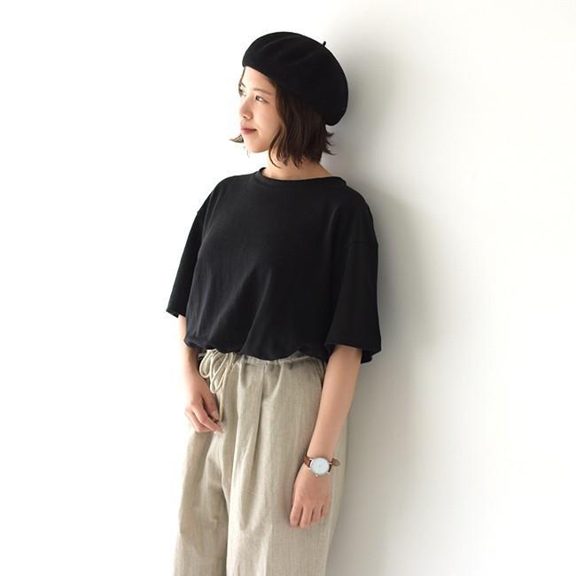 アンフィル unfil フレンチリネン コードレーン ジャージー オーバーサイズ Tシャツ ONSM-UW101 送料無料|crouka|13