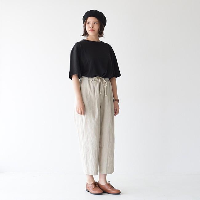 アンフィル unfil フレンチリネン コードレーン ジャージー オーバーサイズ Tシャツ ONSM-UW101 送料無料|crouka|03
