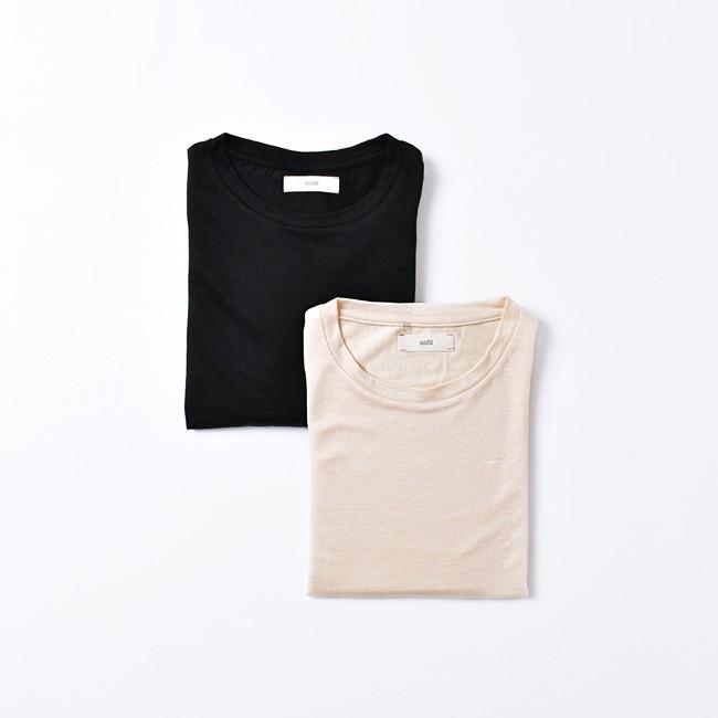 アンフィル unfil フレンチリネン コードレーン ジャージー オーバーサイズ Tシャツ ONSM-UW101 送料無料|crouka|07
