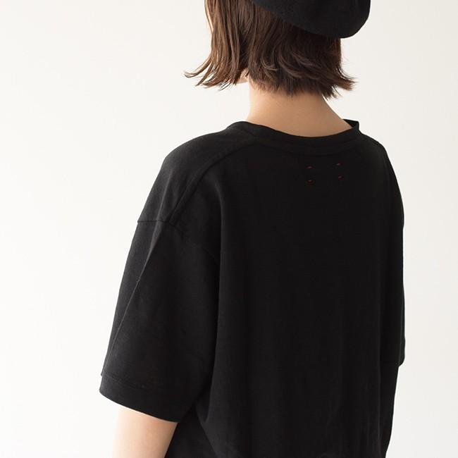 アンフィル unfil フレンチリネン コードレーン ジャージー オーバーサイズ Tシャツ ONSM-UW101 送料無料|crouka|09