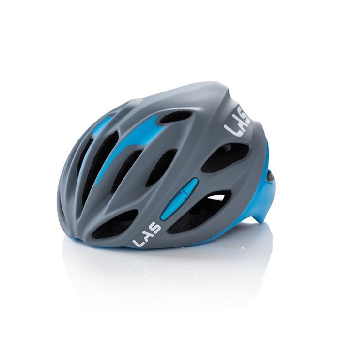 LAS (ラス) COBALTO マット グレー ライトブルー S-M ヘルメット