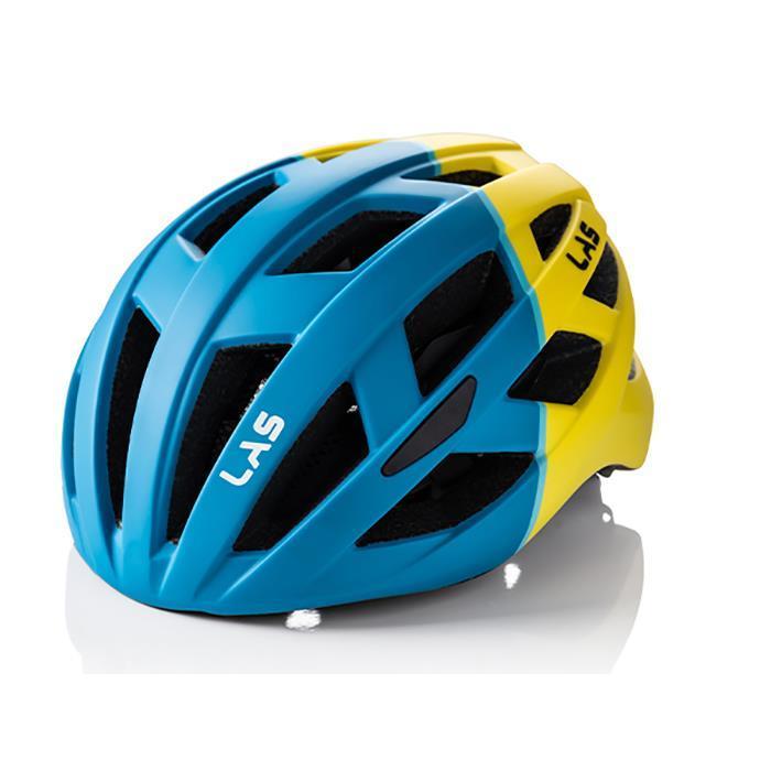 LAS (ラス) ENIGMA マット ペトロールブルー イエロー S-M ヘルメット