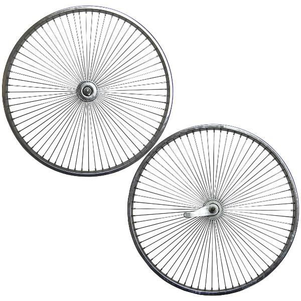 "BICYCLE 16/"" STEEL WHEEL SET W//72 SPOKES BEACH CRUISER LOWRIDER BMX MTB CYCLIN"