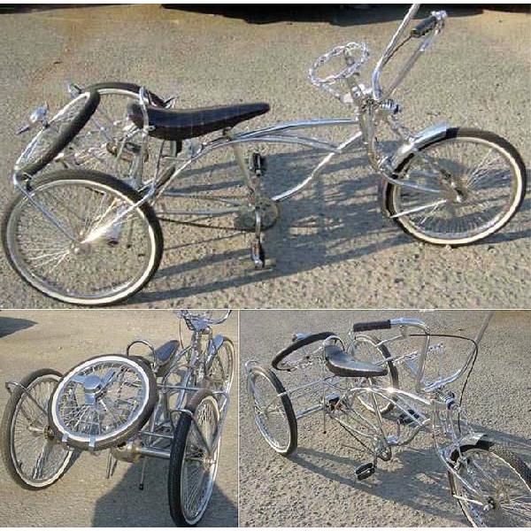 クルーズ ローライダー自転車 トライクカスタム2 20インチ 自転車 ビーチクルーザー 改造 カスタム チョッパー ローチャリ BMX MTB ミニベロ クロスバイク