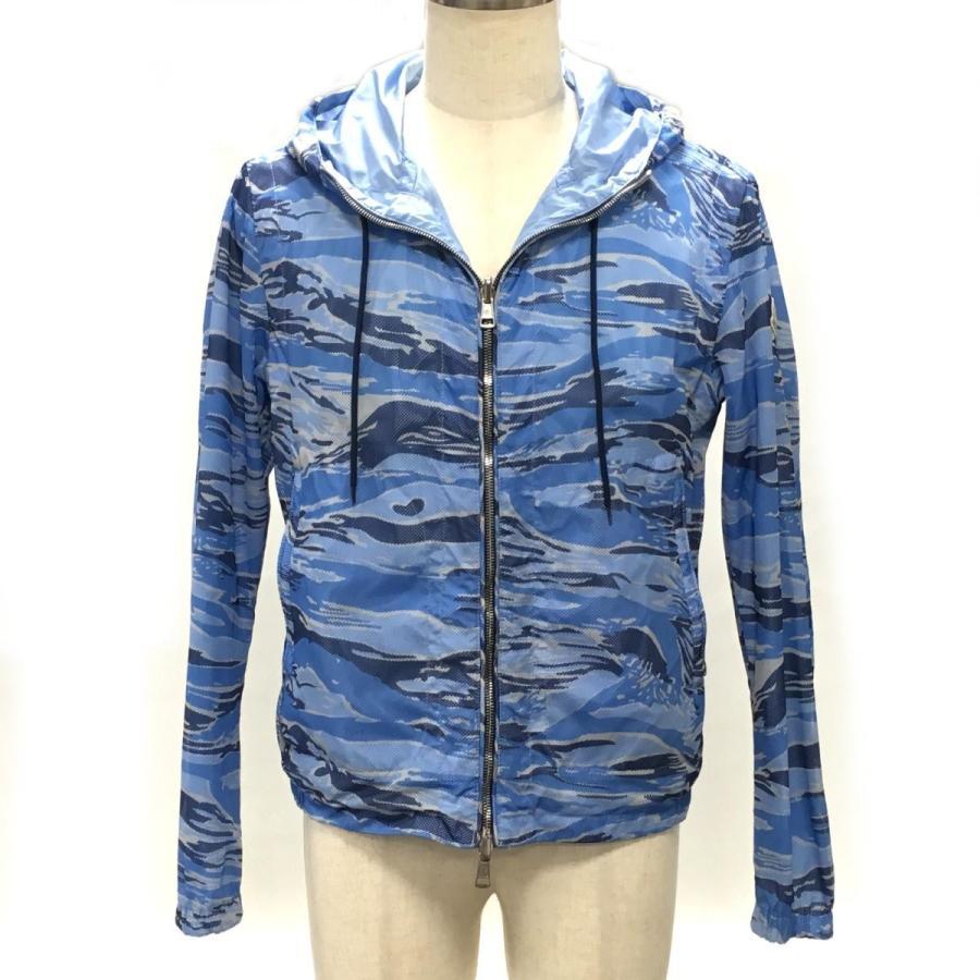 モンクレール GOBERT リバーシブルジャケット ブルー ナイロン100% ランクB