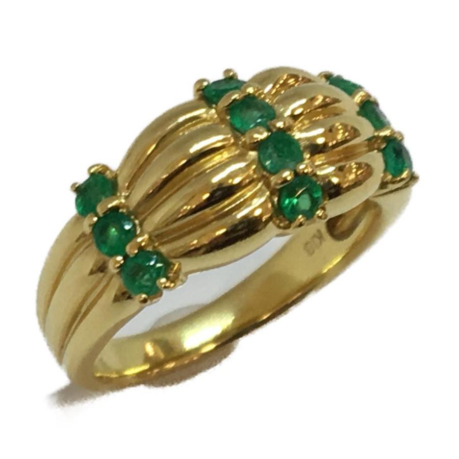 人気定番の ジュエリー ジュエリー エメラルド リング 指輪 K18YG(750)イエローゴールド×エメラルド(0.5ct) ランクA 12号, ブランド リッツ 4f0de76f