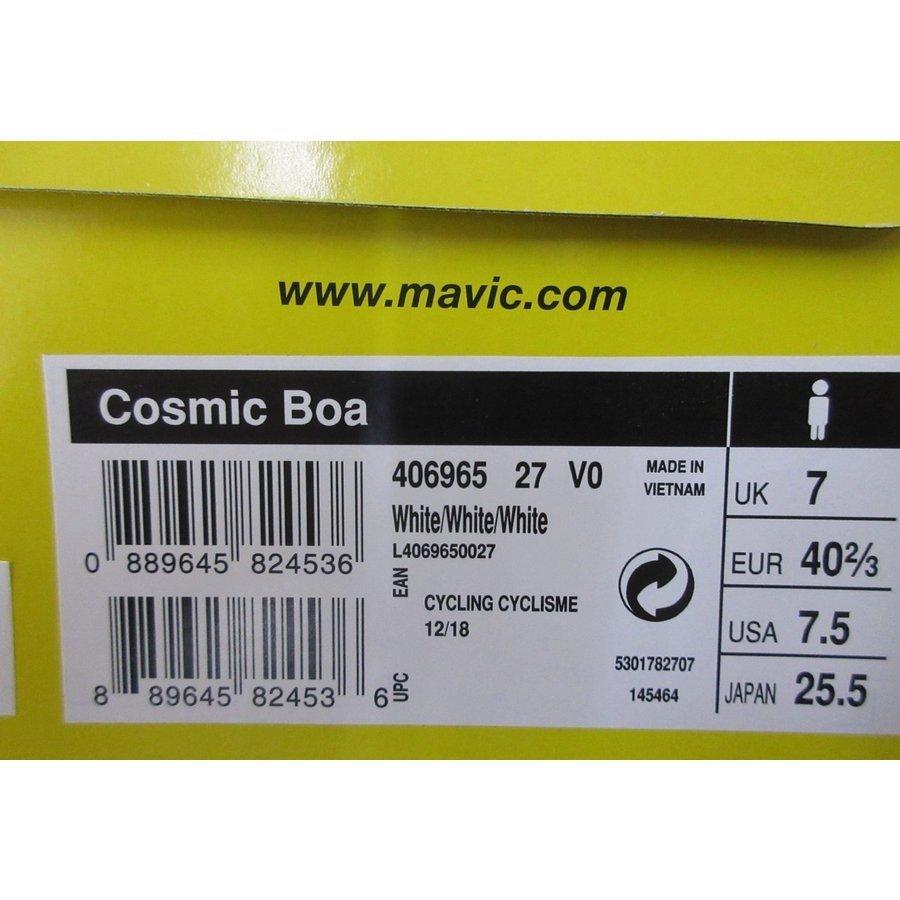 2019 MAVIC マビック Cosmic Boa コスミックボア SPD-SL ビンディングシューズ ホワイト シューズ 新品 csminami 05