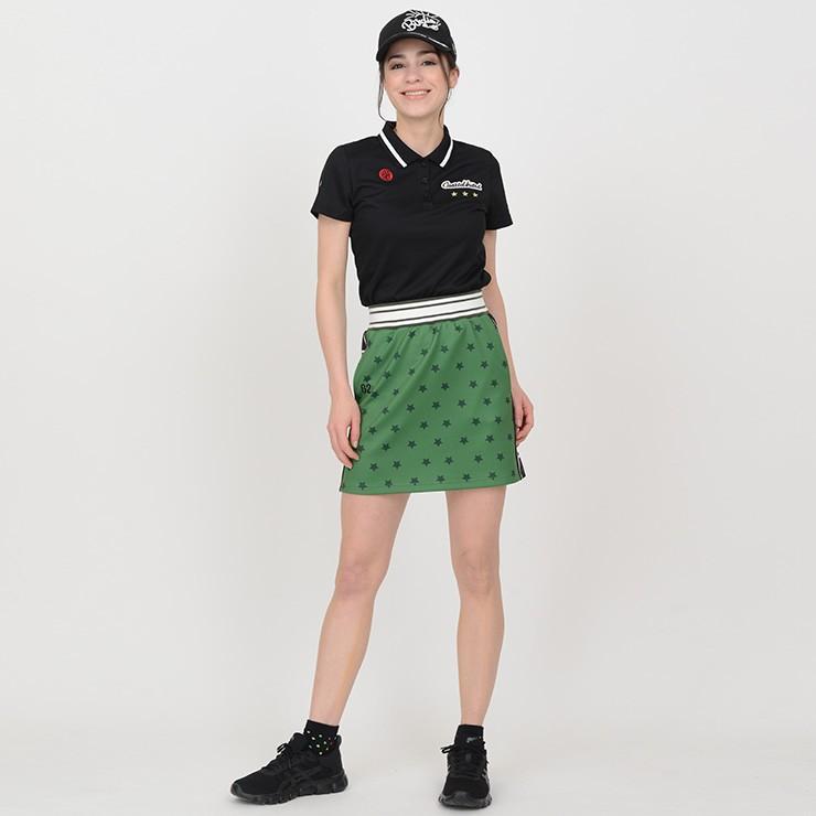 【LINE友だち500円クーポン発行中】 ゴルフ スカート 20SS クアルトユナイテッド 星 柄 サイド ロゴ cuartounited 16