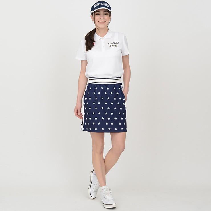【LINE友だち500円クーポン発行中】 ゴルフ スカート 20SS クアルトユナイテッド 星 柄 サイド ロゴ cuartounited 17