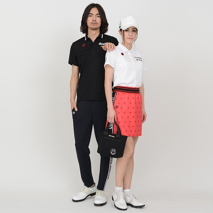 【LINE友だち500円クーポン発行中】 ゴルフ スカート 20SS クアルトユナイテッド 星 柄 サイド ロゴ cuartounited 18