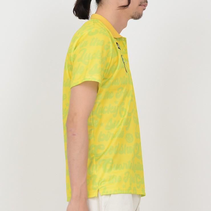 ゴルフ ポロシャツ 20SS クアルトユナイテッド サイケ ロゴ 総柄 メンズ|cuartounited|02
