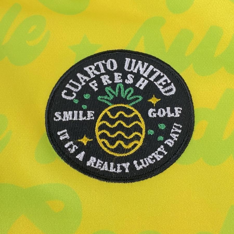 ゴルフ ポロシャツ 20SS クアルトユナイテッド サイケ ロゴ 総柄 メンズ|cuartounited|13