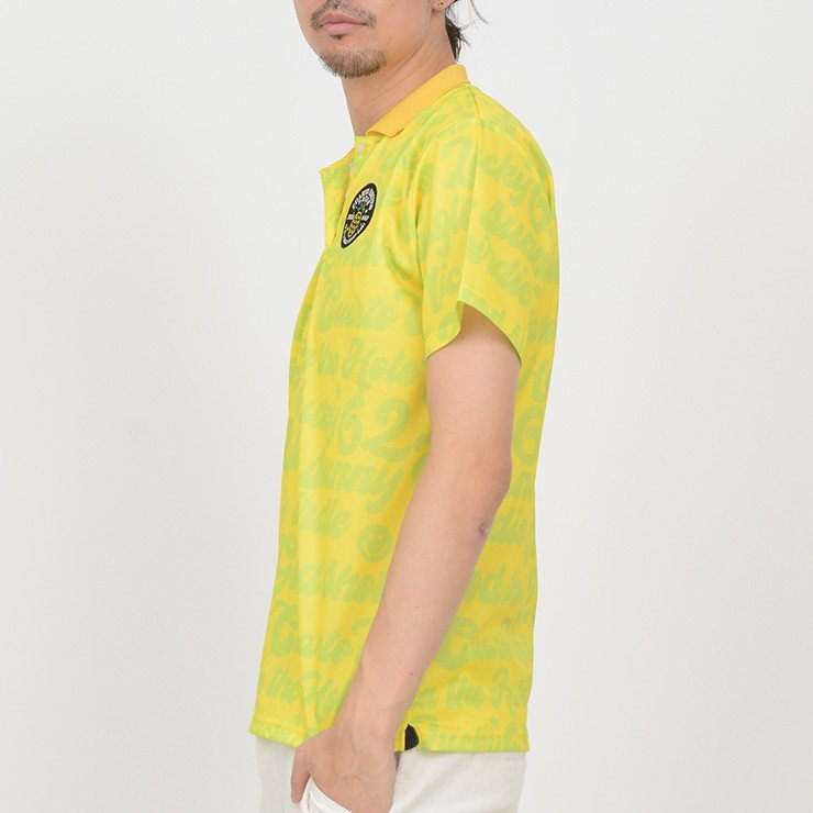 ゴルフ ポロシャツ 20SS クアルトユナイテッド サイケ ロゴ 総柄 メンズ|cuartounited|04