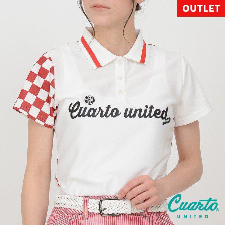 ゴルフ ポロシャツ 20SS クアルトユナイテッド チェッカー フラッグ|cuartounited