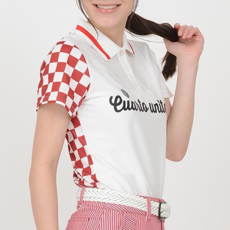 ゴルフ ポロシャツ 20SS クアルトユナイテッド チェッカー フラッグ|cuartounited|02