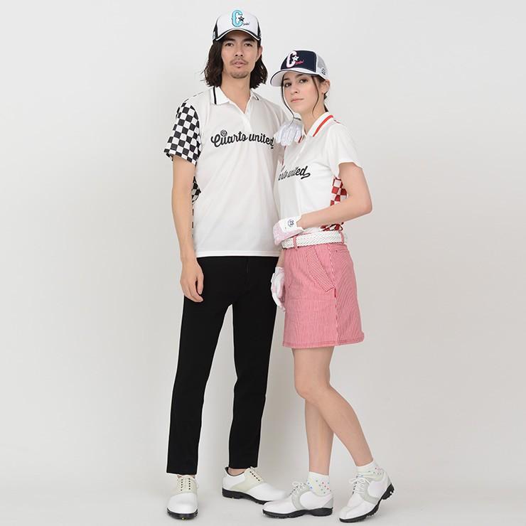 ゴルフ ポロシャツ 20SS クアルトユナイテッド チェッカー フラッグ|cuartounited|15