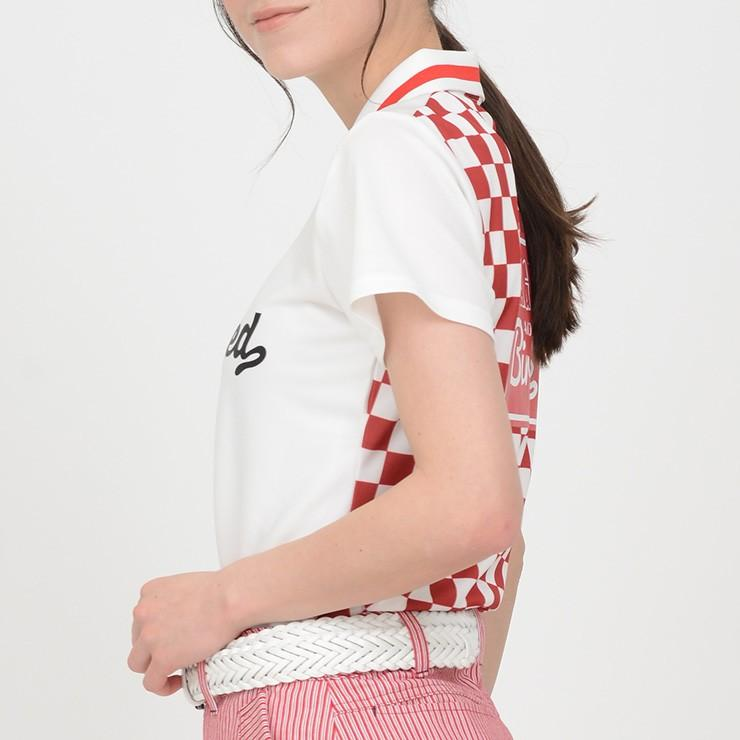 ゴルフ ポロシャツ 20SS クアルトユナイテッド チェッカー フラッグ|cuartounited|04