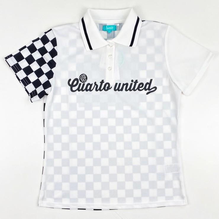 ゴルフ ポロシャツ 20SS クアルトユナイテッド チェッカー フラッグ|cuartounited|05