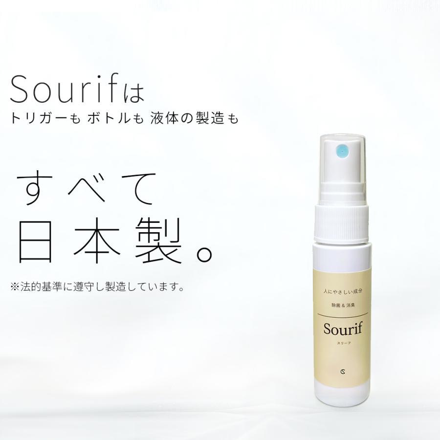 送料無料  sourif スリーフ 除菌スプレー 携帯用 30ml (2本セット) 除菌 消臭スプレー お出かけ 携帯 安定型次亜塩素酸ナトリウム cubic-square 18