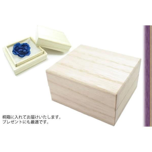 PROSSIMO プロッシモ 顔料染めフラワーラペルピン(深縹) (ラベルピン ブローチ)|cufflink|05