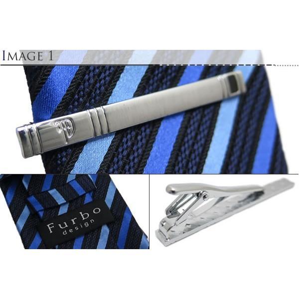 Furbo design フルボデザイン 4アイテムセット(ブルー) (ネクタイ チーフ カフスタイバー)|cufflink|04