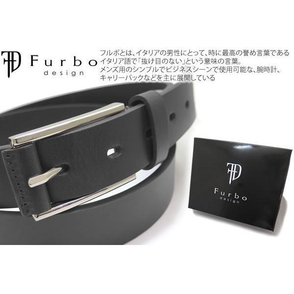 Furbo design フルボデザイン レザーバックル 29mmスムースレザーベルト(ブラック)|cufflink