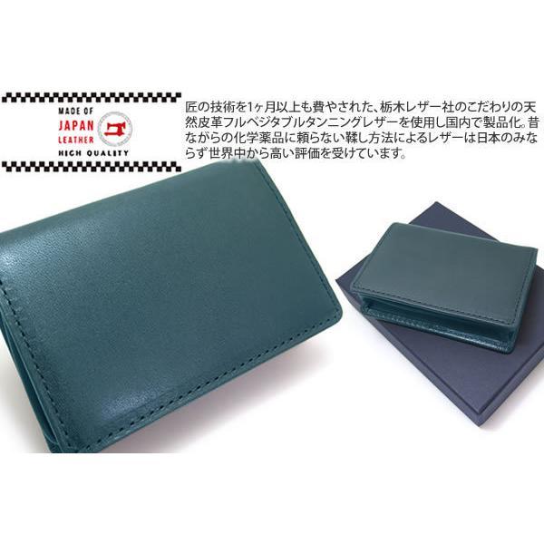MADE IN JAPAN SERIES メイドインジャパンシリーズ シンプル バックポケット レザー 小銭入れ(ネイビー)|cufflink