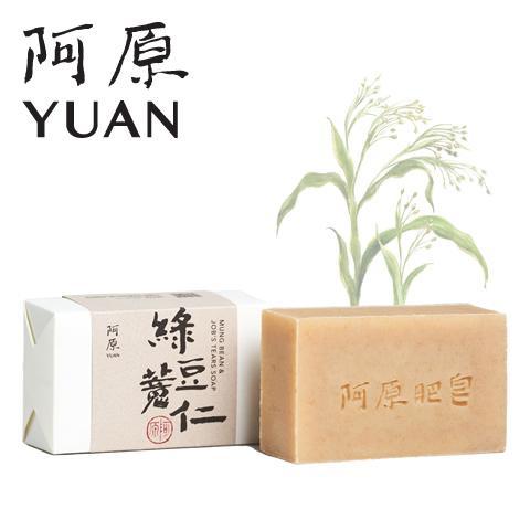 阿原/YUAN(ユアン) ハトムギリョクトウソープ 緑豆?仁 100g (手作り 石けん 無添加 台湾コスメ)|cufflink