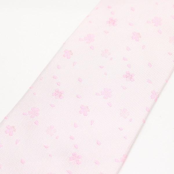 ネクタイ 富士桜工房 白桜 桜吹雪 日本製 シルク ジャカード 和風 メンズ ブランド プレゼント カフスマニア|cuffsmania|02