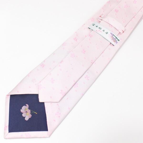 ネクタイ 富士桜工房 白桜 桜吹雪 日本製 シルク ジャカード 和風 メンズ ブランド プレゼント カフスマニア|cuffsmania|04