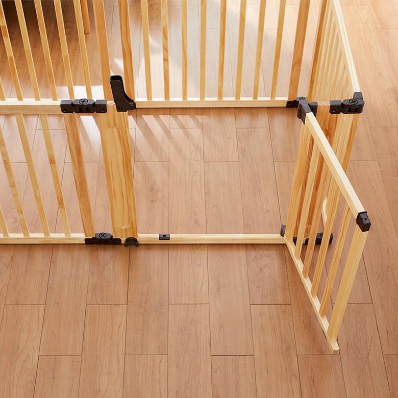 折りたたみ 「代金引換不可」 たためる木製サークル 日本育児 ベビーサークル フレックスDX セイフティゲート