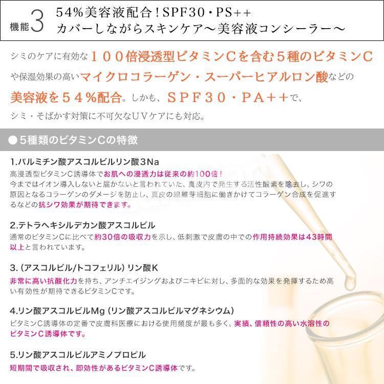 スタインズ カバーナチュラルBB II 2.7g SPF30 PA++【ネコポス 送料無料】濃いシミ アザ タトゥーも隠す カバー力高い コンシーラー メンズメイク にも使えます|curemart|06