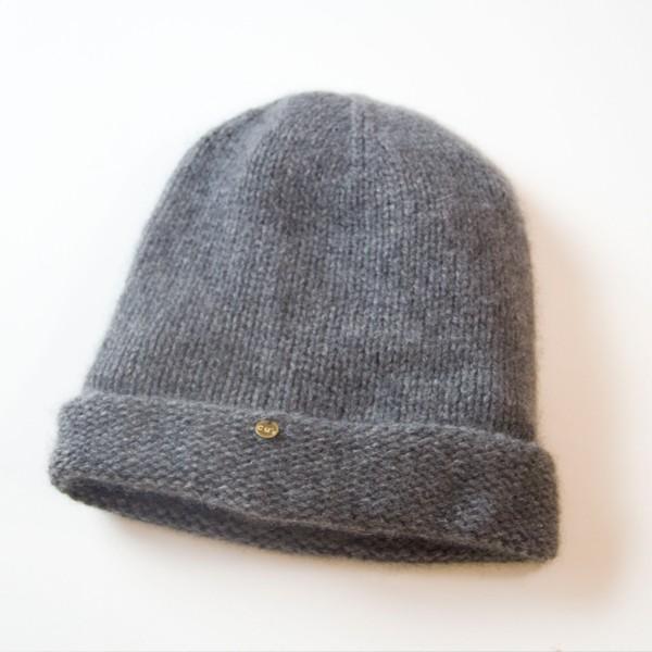 ふんわり極上のカシミヤ100%ニット帽キャップ 男女兼用 カラー:19色 ざっくり厚手タイプ|cus|06