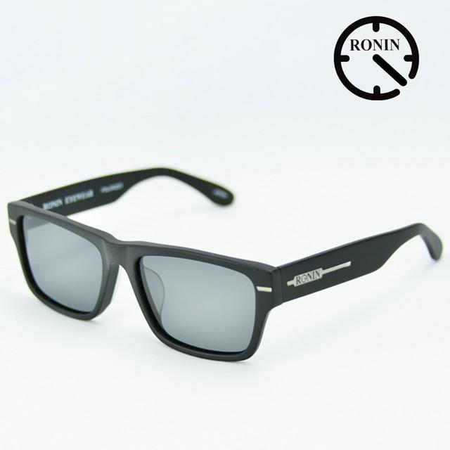 【メーカー再生品】 ロニン サングラスRonin Eyewear ロニンアイウェアー UVカット FLASH Mad Black / Gray Polarized Lens, trois HOMME 38e3d7c4